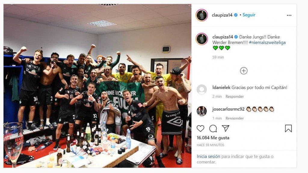 Claudio Pizarro se despide del Werder Bremen
