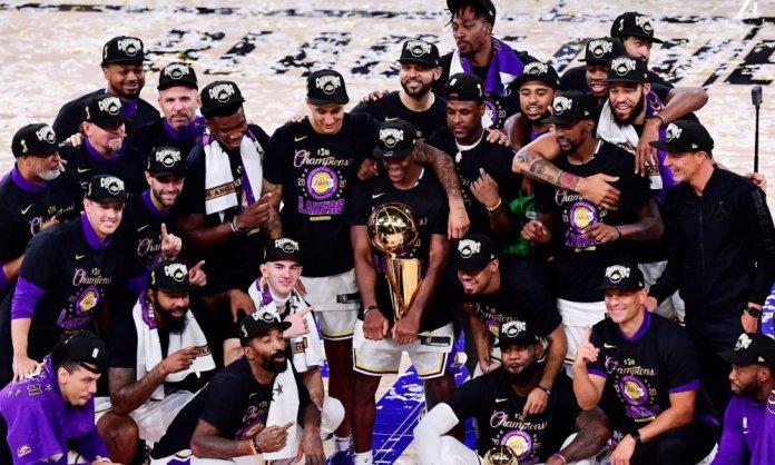 Los Ángeles Lakers derrotaron 4-2 a Miami Heat en Las Finales. (Lakers)