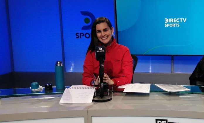 Talía Azcárate (29 años) es comentarista en DirecTV y Latina Televisión. (Archivo personal)