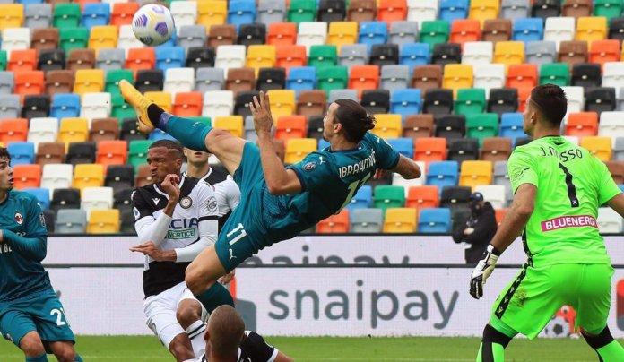 Zlatan Ibrahimovic atraviesa un gran momento futbolístico a los 39 años. (@acmilan)