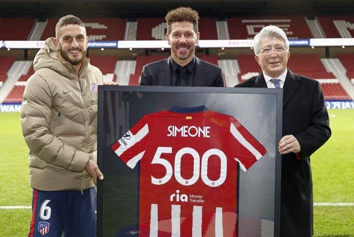 Diego Simeone cumplió 500 partidos como DT de Atlético de Madrid
