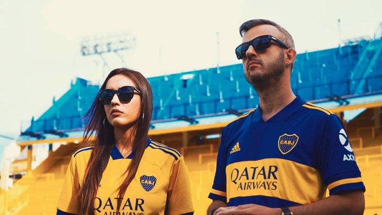 Sebastián Sellaro y Mayra Ferrari - La Bombonera