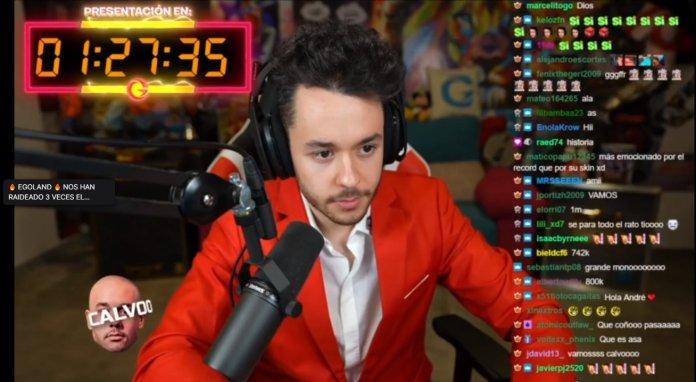 Thegrefh bate Récord mundial en Twitch La skin de Fortnite presentación EN VIVO
